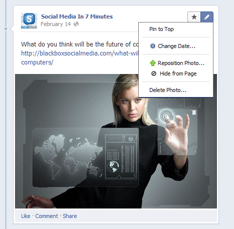 Facebook Timeline for Brands Pin Post What are the Top Features of the New Facebook Timeline for Brands?