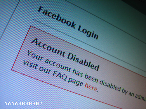 disabled facebook fan page
